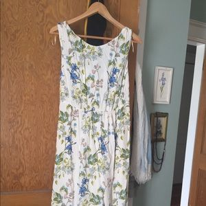 Zara vintage look floral dress with open back tie